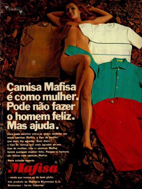 Camisa Mafisa, #Brasil  #anos60  #retro