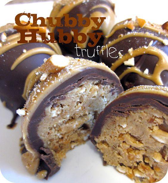 Chubby Hubby Buckeye Peanut Butter Truffles Recipe