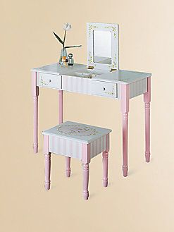 Teamson - Bouquet Vanity Table & Chair