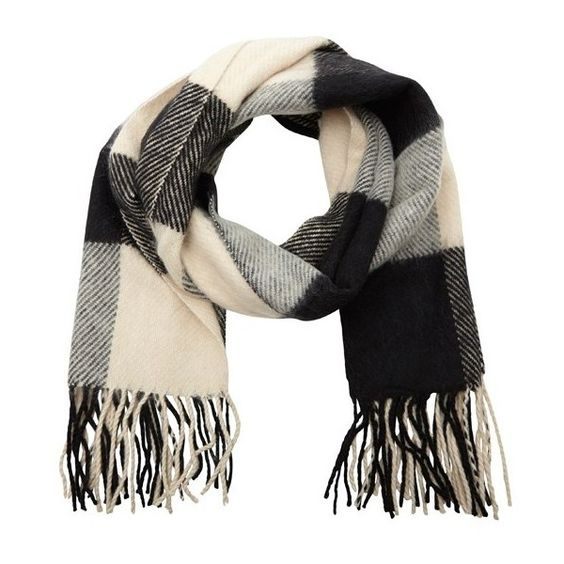 Maison Scotch Thick checked scarf found on Polyvore
