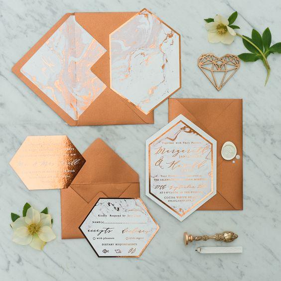 rose gold wedding trends