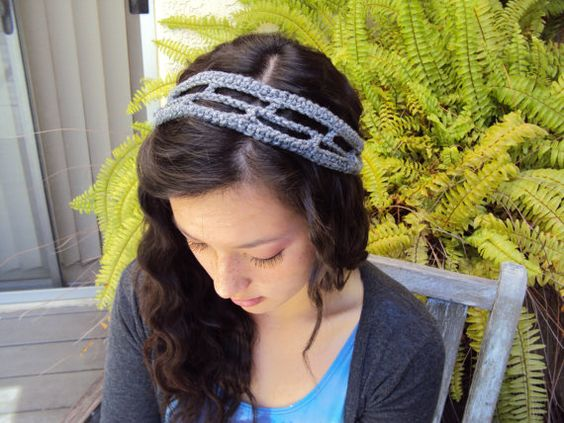 Geometric Headband Modern Crochet Hair Accessory by Rosiescosies, $15.00