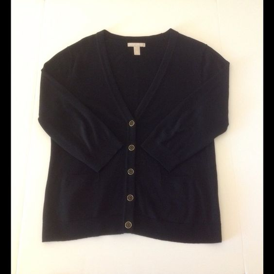Black cardigan, Sweater cardigan and Banana republic on Pinterest