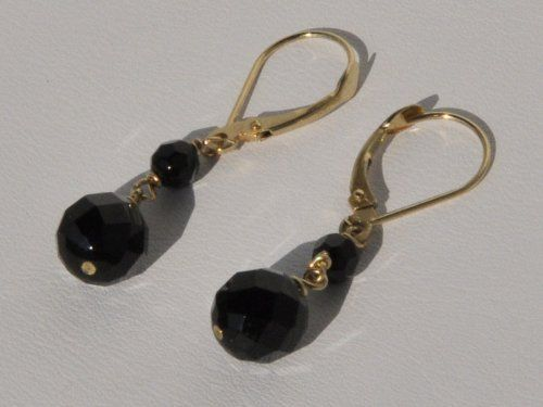 14k Yellow Gold Black Onyx Dangle Earrings Blue Breeze Jewelry. $94.99. Perfect for any occasion like birthdays, anniversaries. parties, birthday, valentines day. gifts, present, events, engagement, Christmas