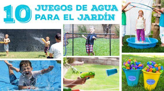 10 juegos de agua para el jard n para ni os diy manualidades diy pinterest bricolaje for Juegos para jardin nios