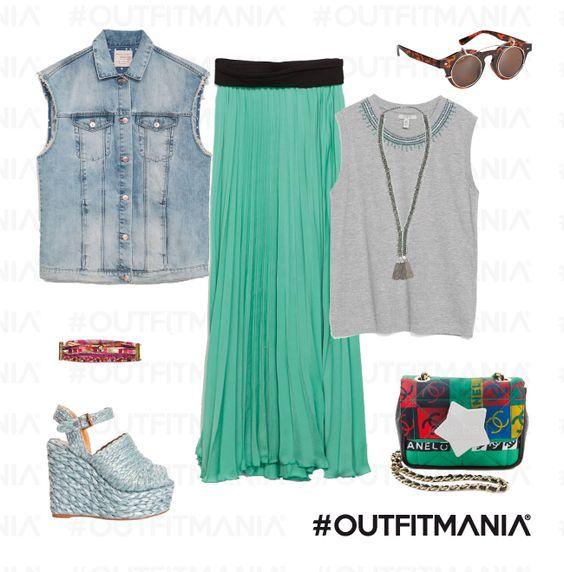 Boho-chic | Libere e chic con tessuti leggeri abbinati a gilet di jeans con borsa e bijoux iper colorati... | #outfitmania #outfit #style #fashion #dresscode #amazing #skirt #chic #streetstyle #woman #colorfull # shirt #zara #zeppe #hipanema #ash #promodue #wear | CLICCA SULLA FOTO PER SCOPRIRE L'OUTFIT E COME ACQUISTARLO
