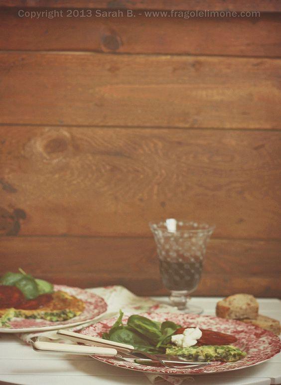 Frittata di piselli e aglio orsino con chorizo - Sarah Brunella photography