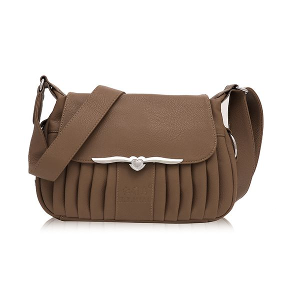 (Buy here: http://appdeal.ru/2zfv ) 2016 Female Handbags Fashion Pleated Elegant Handbag Shoulder Bag Messenger Bag New Evening Bag  Khaki st914    for just US $45.20