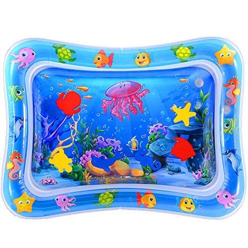 Magifire Tummy Time Baby Water Mat Infant Toy Inflatable Play Mat For 3 6 9 Months Newborn Boy Girl Magifire In 2020 Tummy Time Toys Tummy Time Baby Toys