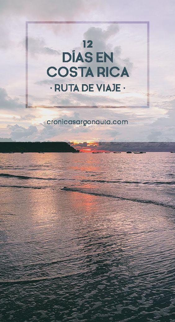 Ruta de viaje a Costa Rica en 12 días por el Caribe y el Pacífico.