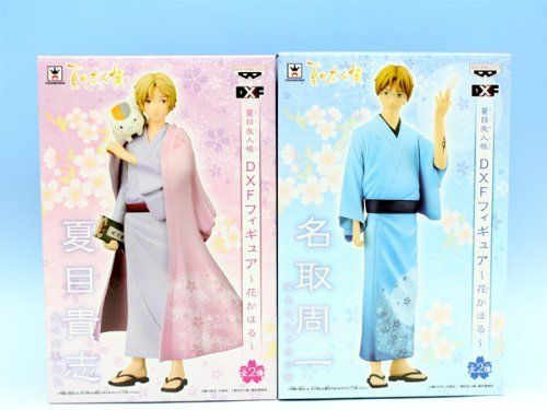 Natsume's Book of Friends DXF figure flower Kahoru animation prize Banpresto (all two full set + Poster with bonus). Parallel import product. All two full set + Poster is with a bonus. Each outer box size: side about 120mm ? length of about 90mm ? height of about 180mm.