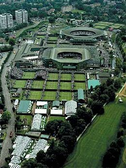 Wimbledon! Held annually between late June and July.  The tournament is the third Grand Slam event played each year, preceded by the Australian Open and the French Open followed by the US Open. Love watching the tennis, strawberries and cream and my brithday!