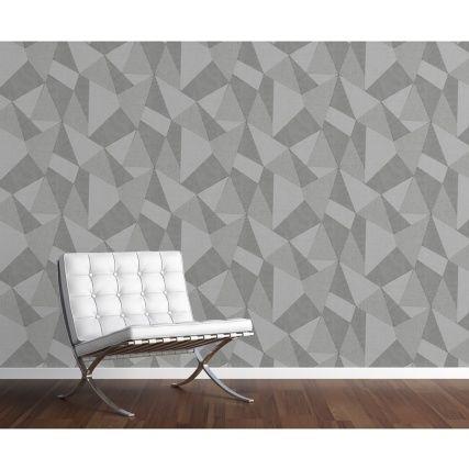 Milano 8 Large Fractal Wallpaper Mid Grey Diy Wallpaper B M Grey Wallpaper Beige Wallpaper Decor