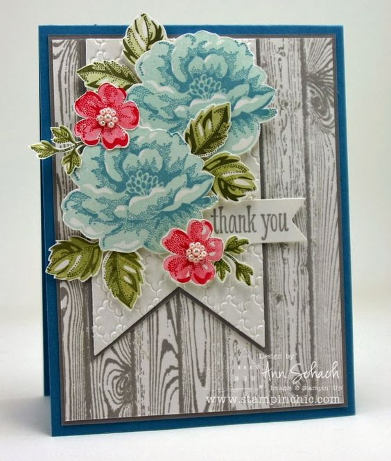 The Stampin' Schach: Hardwood and Stippled Blossoms for The Paper Players: