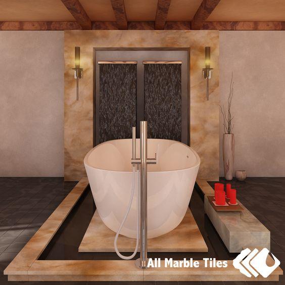 Honey onyx bathroom design for Onyx bathroom design