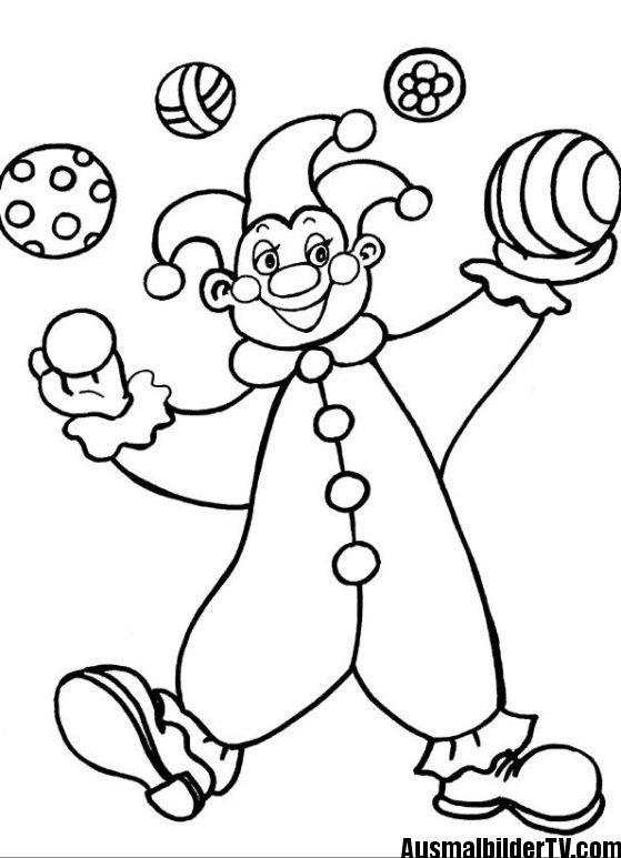 Ausmalbilder Clown Ausmalbilder Kostenlose Ausmalbilder Ausmalen