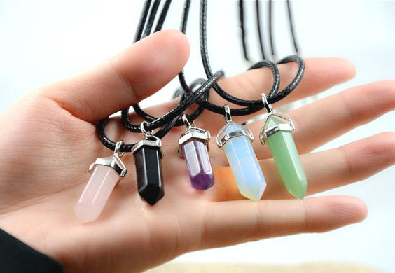 Natural mystic hexagonal crystal pendant necklace-healing crystals by yuipouyt on Etsy https://www.etsy.com/listing/219531119/natural-mystic-hexagonal-crystal-pendant