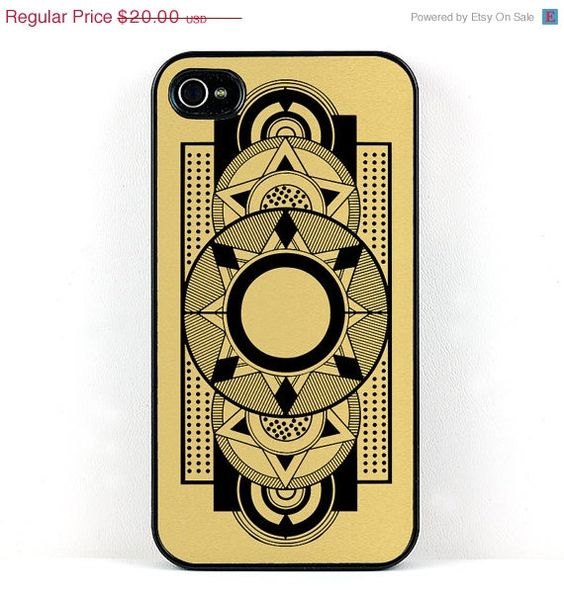 Art Deco Geometric Black and Gold by DecorativeDesignWKS