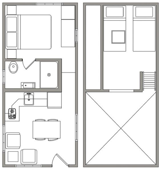 Tiny Homes On Wheels Floor Plans Floor Plans Tiny House