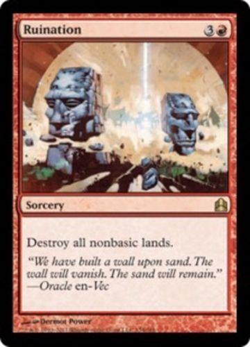 mtg Magic the Gathering Ruination Commander rare red sorcery card