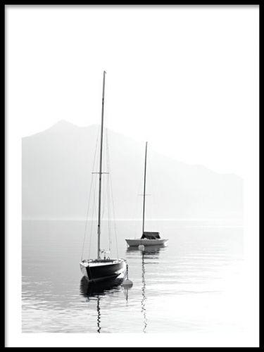 Plakat med havmotiv. Fin sorte og hvide plakater. Poster med sort og hvid fotografering. www.desenio.dk