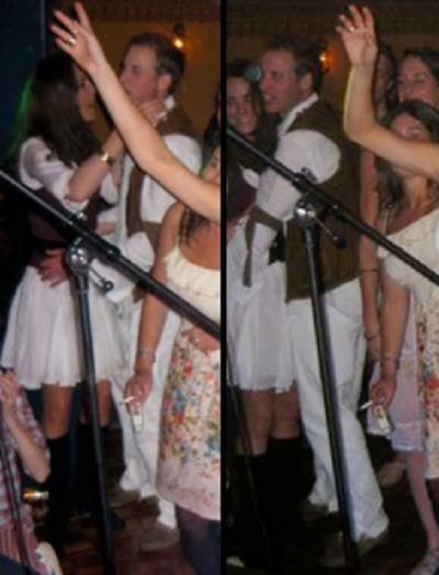 I have no idea what this is from, but that's Will & Kate in the matching white & brown outfits. If anyone knows what this is from, let me know :):