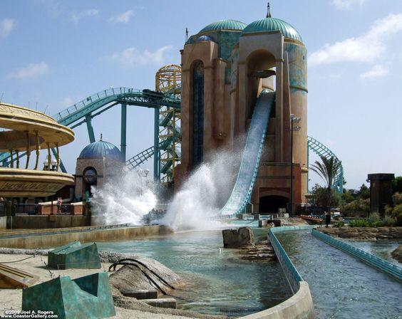 Jouney To Atlantis Roller Coaster Water Ride At Sea World