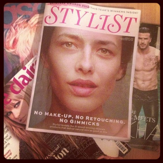 "#Stylist magazine cover, the ""no gimmicks"" beauty issue."