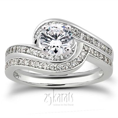 Pave Set Diamond Bridal Ring