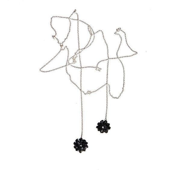 Black Crocheted Flower Necklace ($165) ❤ liked on Polyvore featuring jewelry, necklaces, accessories, decoration, fillers, vintage jewelry, black necklace, black jet necklace, black jewelry and blossom necklace