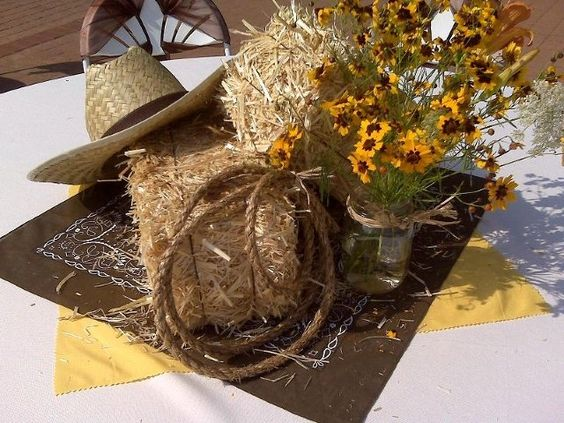 Red Bandana Table Centerpieces And Bandanas On Pinterest