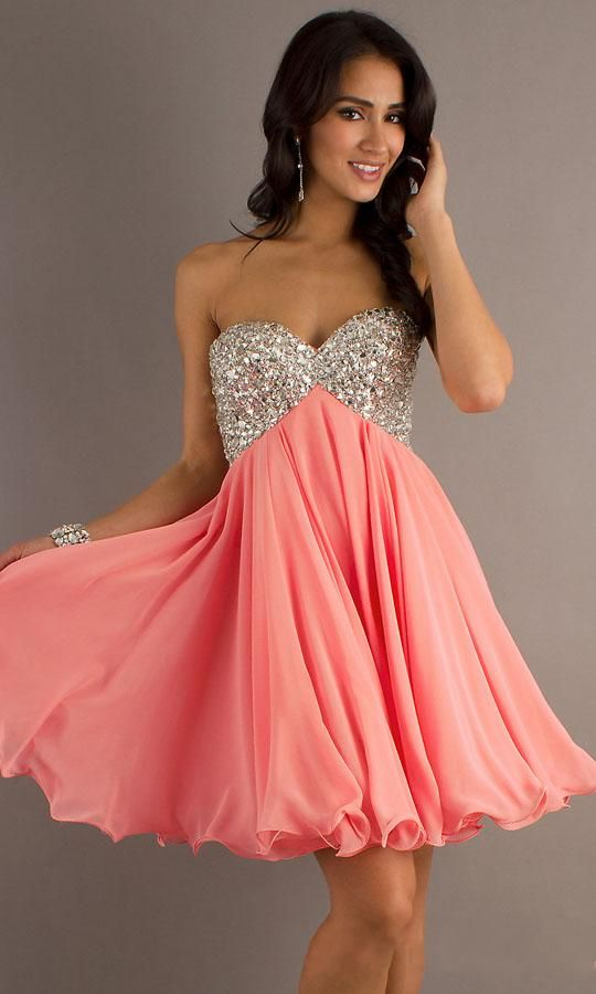 Short Strapless Party Dress by Betsy and Adam Prom Dresses Cheap ...