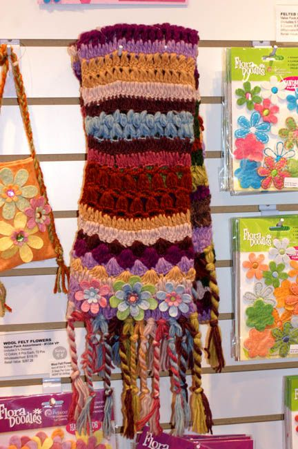 Knitting Wearable Art : Stitches yarns and flower on pinterest