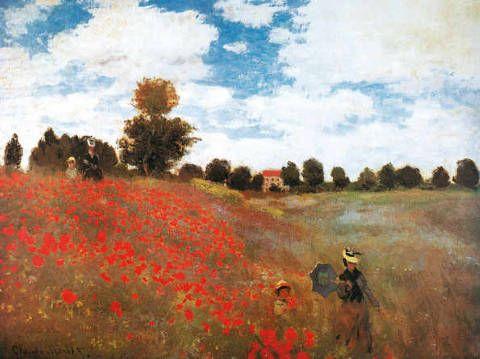 Imagen Campo de amapolas salvajes, 1873 de artista Claude Monet ya enmarcado