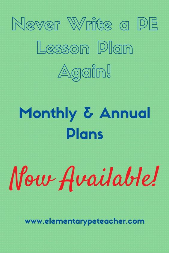 Never write another PE lesson plan again!  We offer a complete year of elementary PE lesson plans.  Fun Games, Relays, Fitness & Strength Stations, Instant Activities and more.      Enjoy Your School Year!  :)