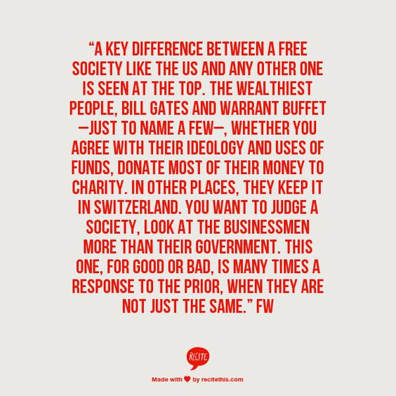 government, businessmen, charity & their own societies