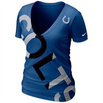 You've never been one to do anything halfheartedly, so why would it be any different when it comes time to represent your Colts? Show off your enthusiastic dedication to your team in this Off Kilter V-neck tee from Nike.