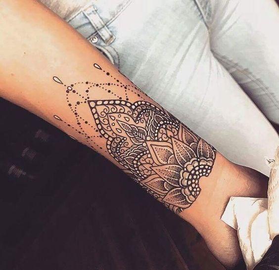 Photo Tattoo Evgeny Nevzorov Do Everything With Love Tattoos Tattoofeminia Flower In 2020 Mandala Wrist Tattoo Cuff Tattoo Mandala Tattoo Design