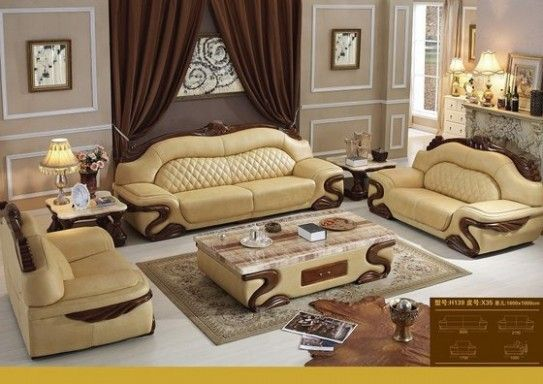 The Miracle Of Luxury Leather Sofa Set