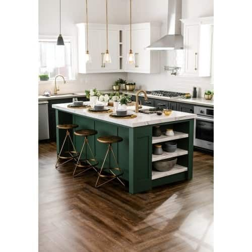 Miseno Mlvt Sanfelipe Wood Imitating 7 1 8 X 48 Luxury Vinyl Plank Flooring 33 46 Sf Carton San Felipe Green Kitchen Cabinets Contrasting Kitchen Island Modern Kitchen Cabinets