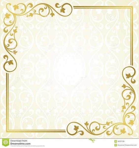 Floral invitation card. Stock Photo