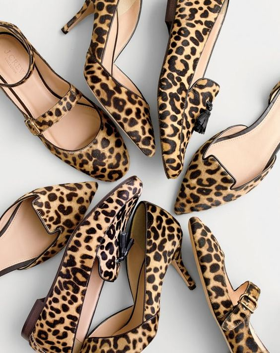 It's a thing at J.Crew: leopard-print shoes.
