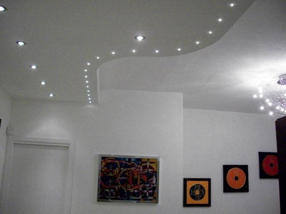 Controsoffitti decorativi cerca con google idee per la for Faretti a led per casa