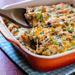 Mexican Chicken Quinoa Casserole