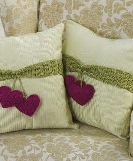 Knitting Pattern Heart Cushion : HEART TO HEART CUSHION CROCHET PATTERN Crochet and Knitting Stuff Pintere...