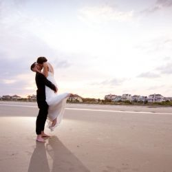 This stunning beach wedding in Charleston is so full of joy and beauty!