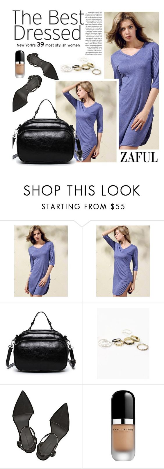 """Zaful 42/4"" by merima-kopic ❤ liked on Polyvore featuring Privé, Alexander Wang, Marc Jacobs and zaful"