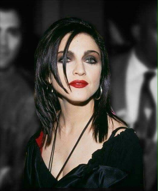 Madonna Dark Hair : madonna, Madonna, Rare,