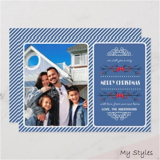 Dec 11 2018 Merry Christmas And A Happy New Year From Our New Home Send Your Christm In 2020 Moving Announcements Christmas Moving Announcement Holiday Design Card