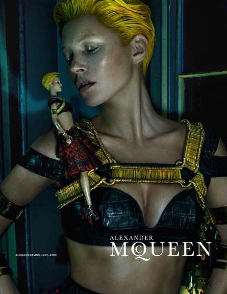 Check out Kate Moss's first Alexander McQueen campaign!